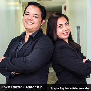 Erwin Ernesto J. Manansala,  President & Founder and Apple Esplana-Manansala, Vice President for Business Development, PuzzleBox BPO, Inc