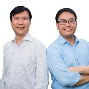 Founders Charles Poon & Daryl Neo, Handshakes