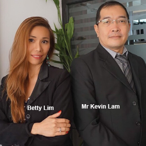 Betty Lim, Founder & Director and Mr Kevin Lam, CPA(Business Partner), Finex