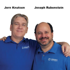 Jorn Knutsen, CEO and Joseph Rubenstein, CTO, UMBRA Technologies
